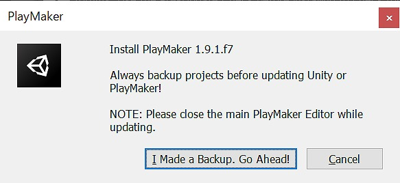 PlayMaker インストール確認